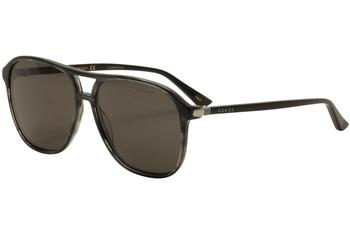 Gucci Men's GG0016S GG/0016/S Retro Aviator Fashion Sunglasses  UPC: