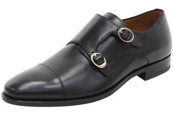Mezlan Men's Rosales Leather Dressy Double Monk Strap Loafers Shoes