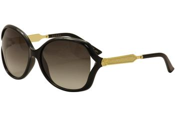 Gucci Women's GG0076S GG/0076/S Fashion Sunglasses  UPC: