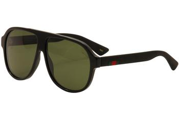 Gucci Men's GG0009S GG/0009/S Retro Fashion Pilot Sunglasses