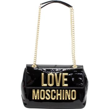 Love Moschino Women's Raised Letter Logo Flap-Over Crossbody Handbag