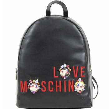 Love Moschino Women's Embroidered & Jeweled Logo Book Bag Backpack