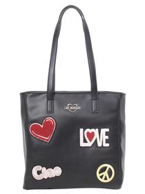Love Moschino Women's Ciao Patch Tote Handbag