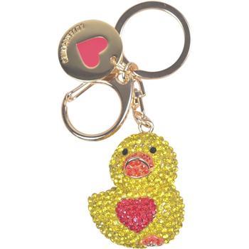 Love Moschino Women's Gold Rhinestone Duck Keyring Handbag Charm Dangle