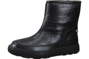 Love Moschino Women's Embossed Logo Print Ankle Boots Shoes