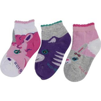 Stride Rite Toddler/Little Girl's 3-Pack Animal Faces Crew Socks