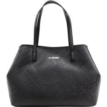 Love Moschino Women's Logo Embossed Satchel Handbag