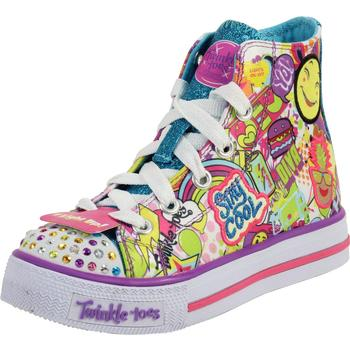 Skechers Little/Big Girl's Twinkle Toes Shuffles Trendy Talk Light Up Sneakers  UPC: