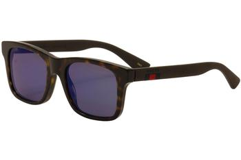 Gucci Men's GG0008S GG/0008/S Square Sunglasses
