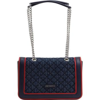 Love Moschino Women's Denim Quilted Flap-Over Crossbody Handbag  UPC:
