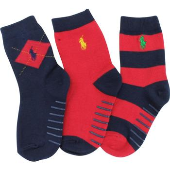 Polo Ralph Lauren Toddler Boy's 3-Pack Rugby Argyle Crew Socks  UPC: