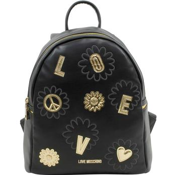 Love Moschino Women's Embroidered Flower Book Bag Backpack