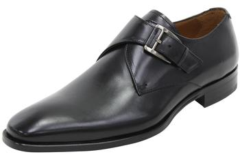 Mezlan Men's Coimbra Leather Dressy Monk Strap Loafers Shoes