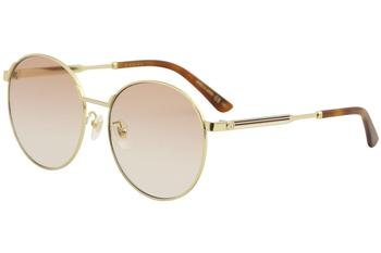 Gucci Women's Sensual Romantic GG0206SK GG/0206/SK Fashion Round Sunglasses