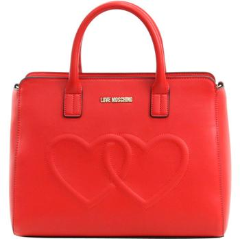 Love Moschino Women's Double Heart Shoulder Satchel Handbag