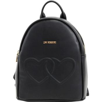 Love Moschino Women's Double Heart Book Bag Backpack