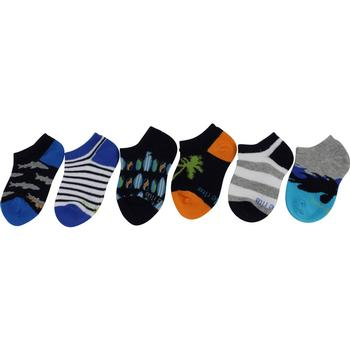 Stride Rite Toddler/Little Boy's 6-Pack Surfing No Show Socks