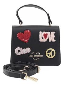 Love Moschino Women's Ciao Patch Mini Crossbody Handbag