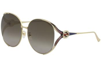 Gucci Women's GG0225S GG/0225/S Fashion Round Sunglasses