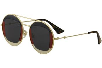 Gucci Women's GG0105S GG/0105/S Round Fashion Sunglasses