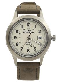 Timex Men's T49870 Expedition Silver/Brown Analog Watch UPC:753048378432