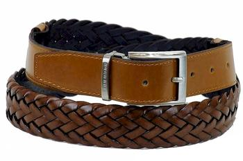 Hugo Boss Men's Osias 50262080 Adjustable Braided Leather Belt  UPC: