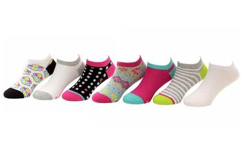 Stride Rite Toddler/Little Girl's 7-Pairs Brennae Pattern No Show Socks  UPC: