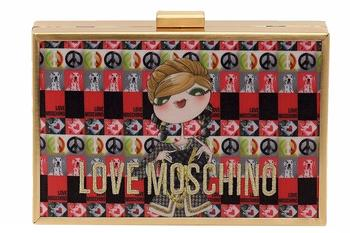 Love Moschino Women's Digital Print Crossbody Clutch Handbag