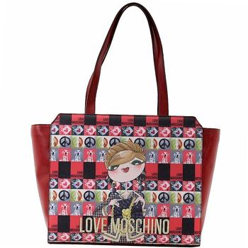 Love Moschino Women's Digital Print Double Handle Tote Handbag