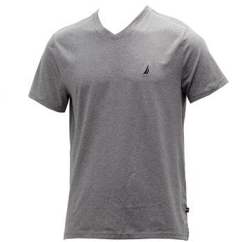 Nautica Men's Solid Short Sleeve Slim Fit V-Neck T-Shirt  UPC: