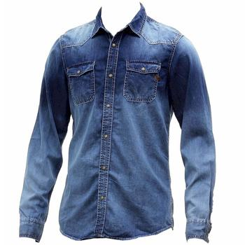 Buffalo Blu Men's Salmen Cotton Long Sleeve Button Down Denim Shirt  UPC: