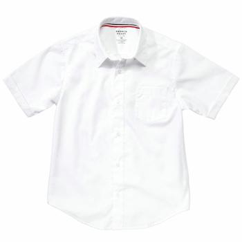 French Toast Boy's Short Sleeve Poplin Uniform Button Up Shirt