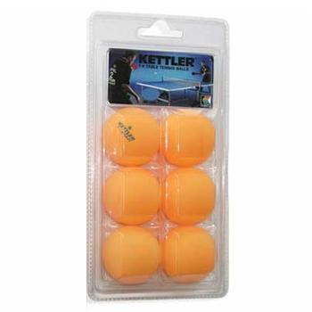 Kettler 1-Star 7221 6-Pack 40mm Table Tennis Balls  UPC: