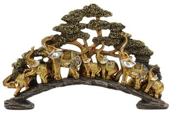 The Mirella Collection 17.5 Inch Elephant Bridge