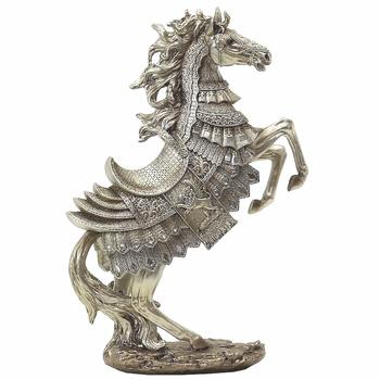 The Mirella Collection 18 Inch Polyresin Bronze Horse Figur  UPC:607192372191