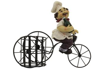 Bistro Chef On A Bicycle Wine Bottle Holder  UPC: