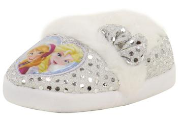 Disney's Frozen Toddler/Little Girl's Silver/Light Blue Sequins Fashion Slippers