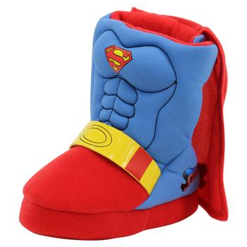 Superman Toddler/Little Boy's Man Of Steel Blue/Red Fashion Boots Slippers Shoes  UPC:
