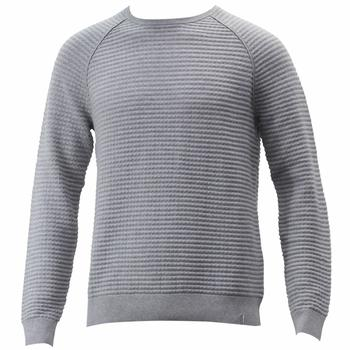 Calvin Klein Men's Check Blister Stitch Long Sleeve Crew Neck Sweater  UPC:
