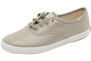Keds Women's Champion Metallic Gold Sneakers Shoes WF54517  UPC: