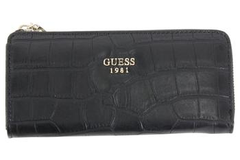 Guess Women's Cate Pebbled Slim Zip-Around Clutch Wallet  UPC: