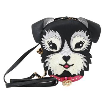 Betsey Johnson Women's Kitsch Fritzy The Puppy Black Crossbody Handbag  UPC:889487181989