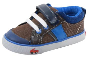 See Kai Run Toddler Boy's Sammi Denim/Canvas Sneakers Shoes  UPC: