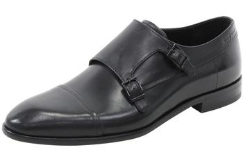 Hugo Boss Men's Dressapp Leather Double Monk Strap Loafers Shoes  UPC: