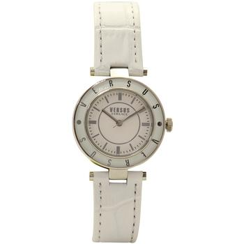 Versus By Versace Women's SP8120015 White Leather/Silver Analog Watch