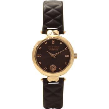 Versus By Versace Covent Garden SCD070016 Rose Gold/Black Leather Analog Watch