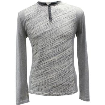 Calvin Klein Men's Long Sleeve Colorblock Henley Shirt  UPC: