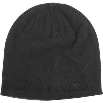Calvin Klein Men's Embossed Logo Beanie Cap Winter Hat (One Size Fits Most)  UPC: