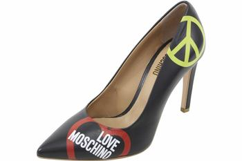 Love Moschino Women's Leather Stiletto Heels Shoes  UPC: