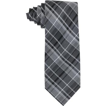 Calvin Klein Men's Graphite Schoolboy Plaid Tie  UPC: